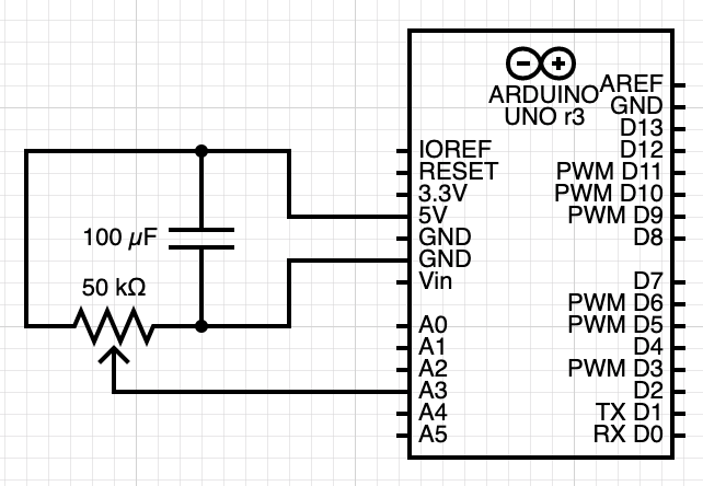 slide potentiometer circuit diagram