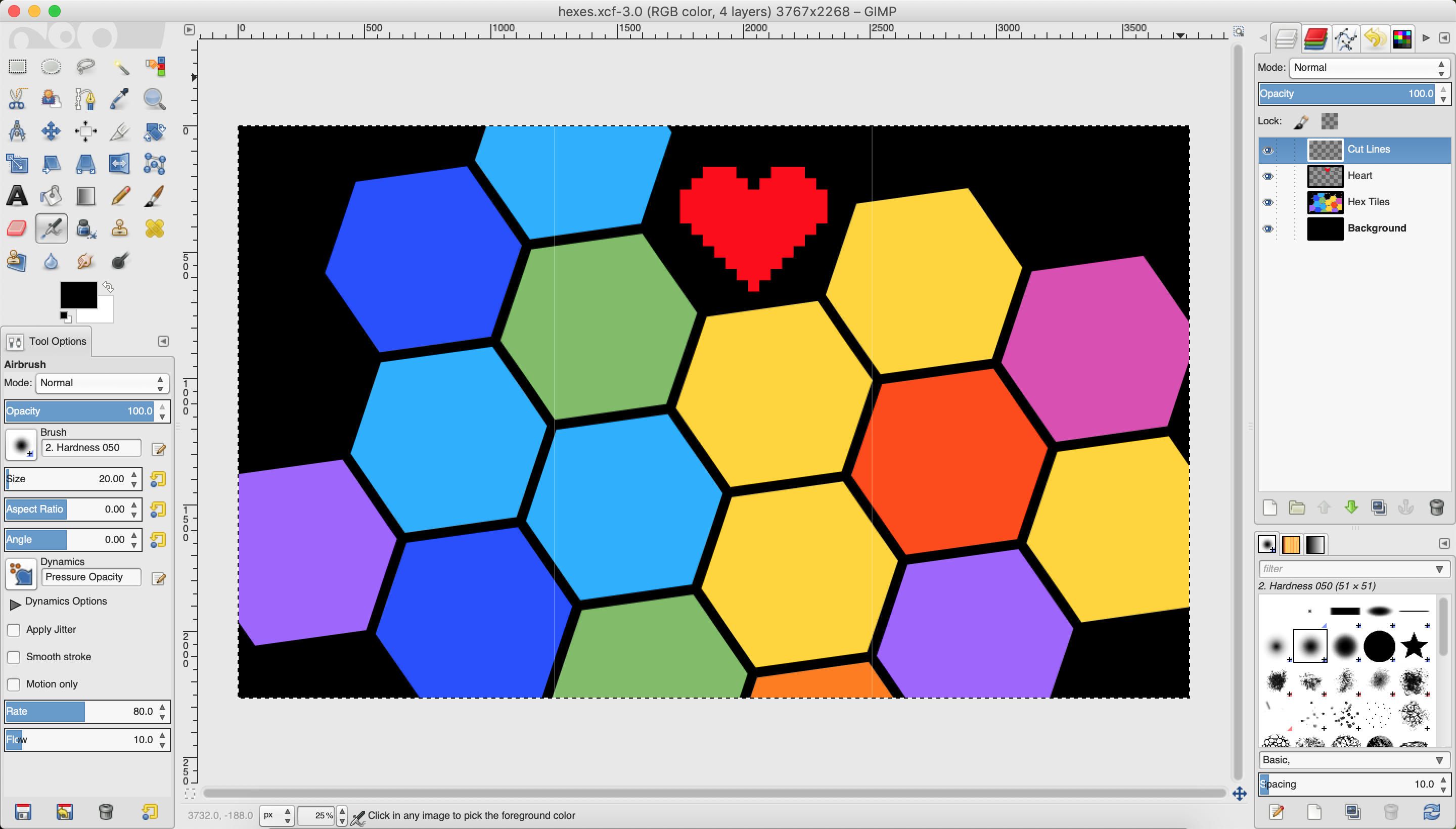 hexes in gimp