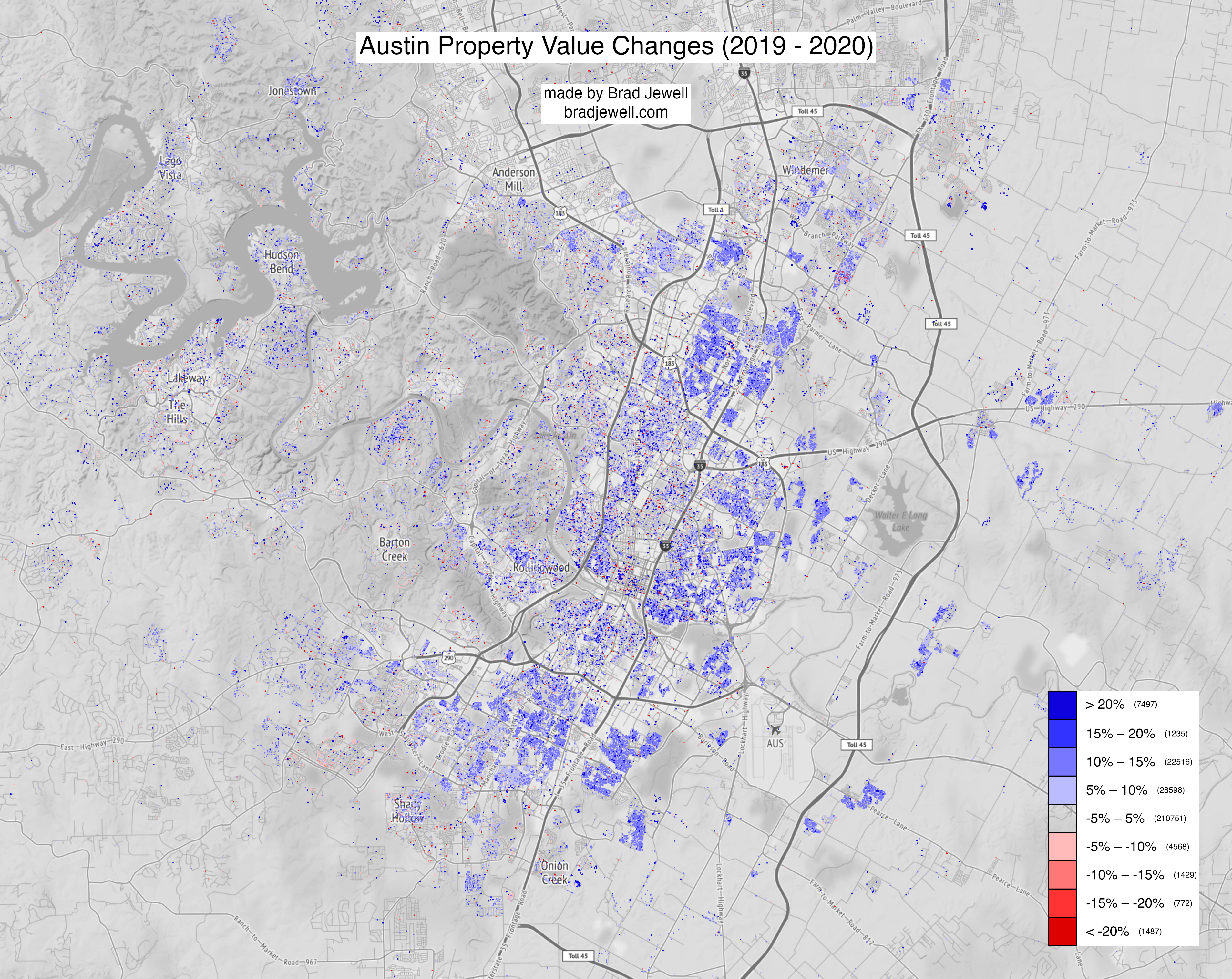 Property Value Changes Map